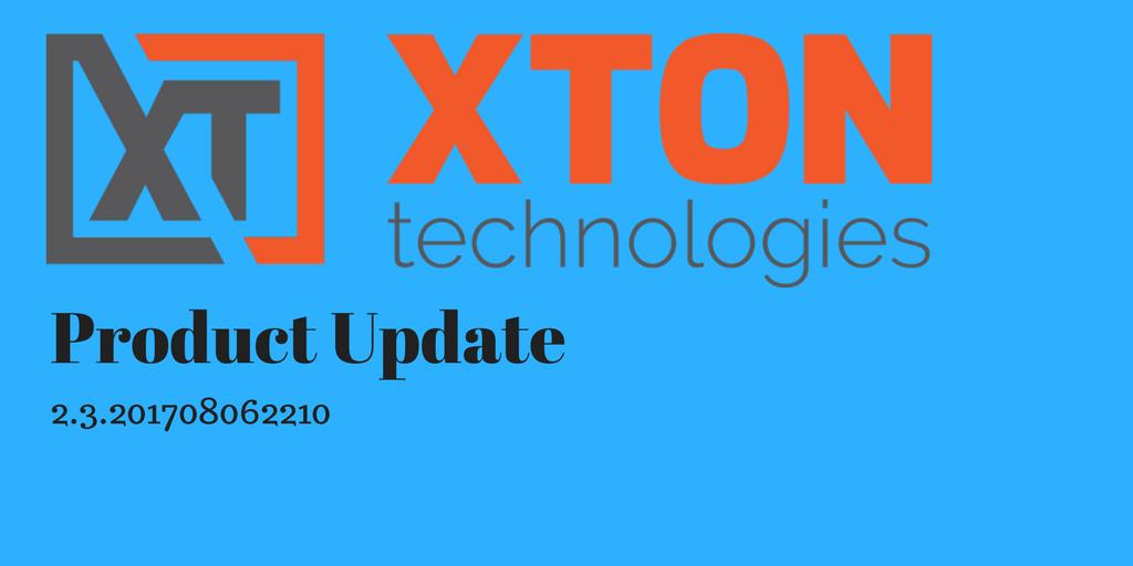Xton Technologies XtonTech Product Update