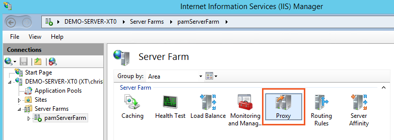 Xton Access Manager Server Farm IIS Proxy