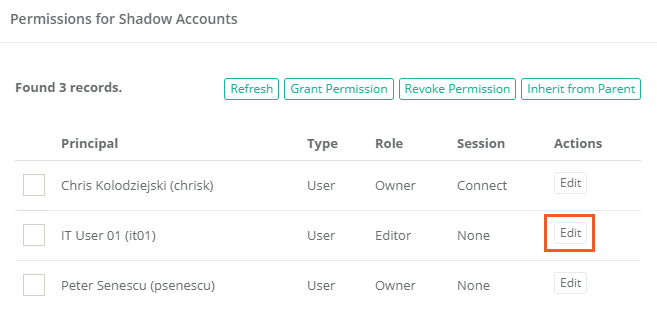 Xton Access Manager Edit Permissions