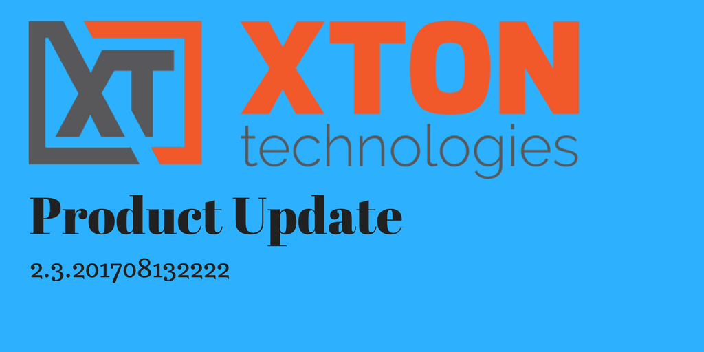 Xton Technologies xtontech product update release notes