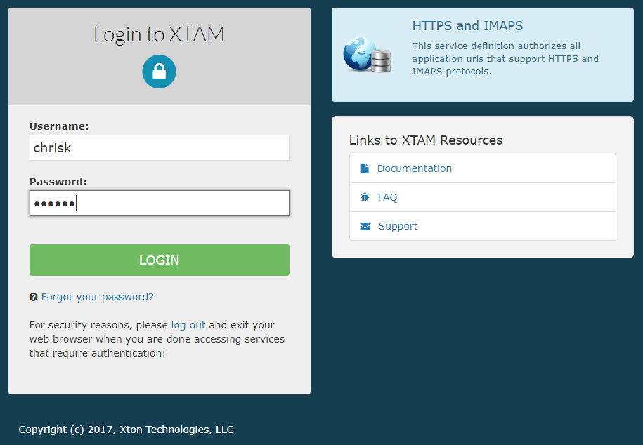 Xton Technologies Duo MFA Login