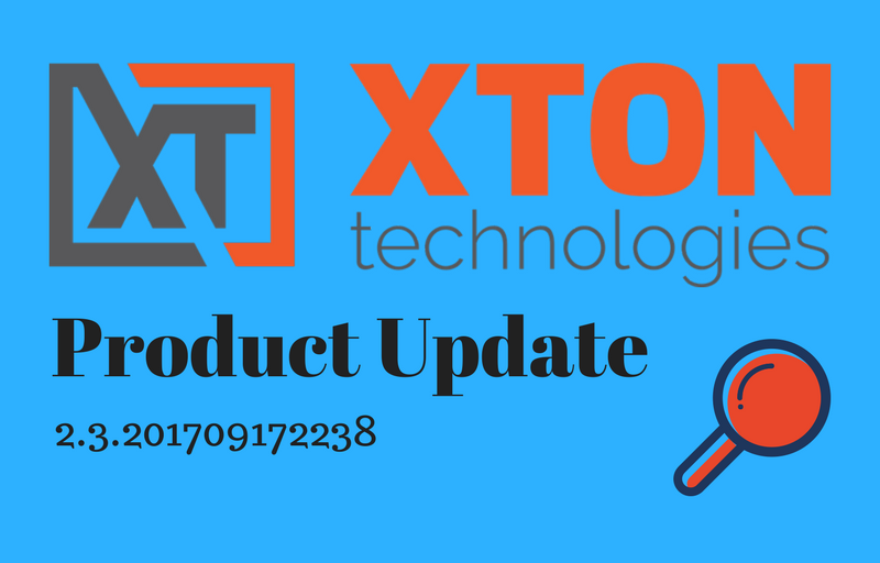 XtonTech Privileged Account and Access Manager Release Notes Product Update