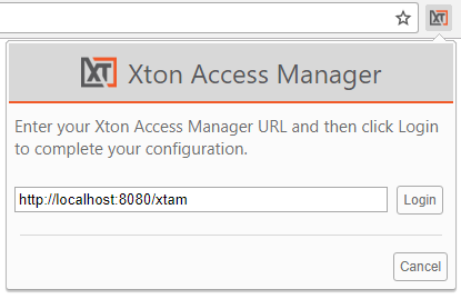 Xton Access Manager Extension Configuration URL