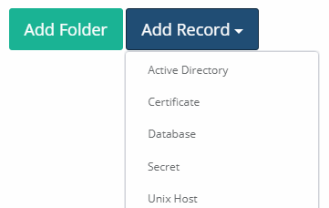 Xton Access Manager Add Record - Record Types