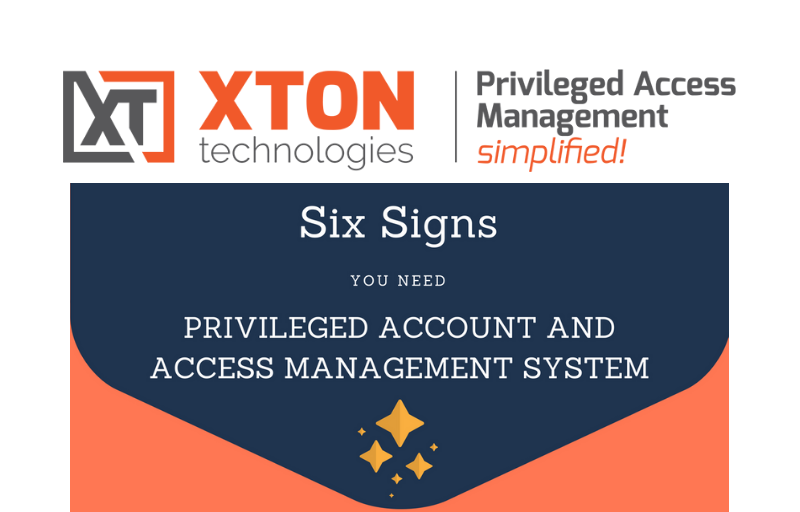 blog infographics six signs you need PAM solution