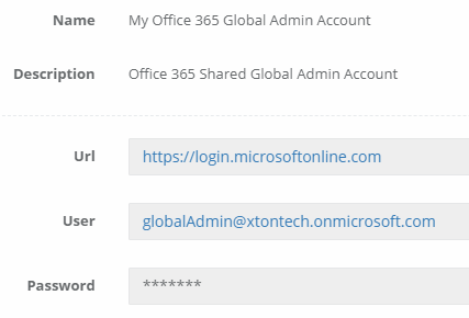 Xton Access Manager WEB Portal Record Type