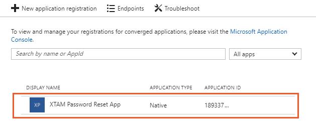 XTAM Select Azure AD App