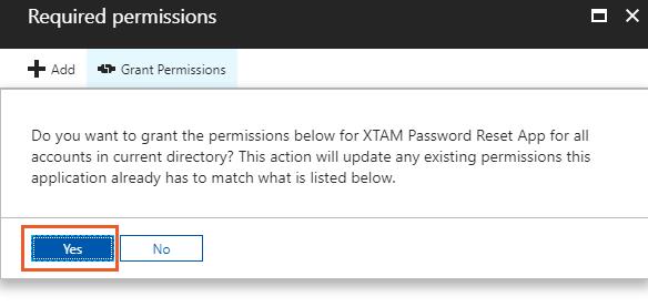 XTAM Azure AD Grant Permissions