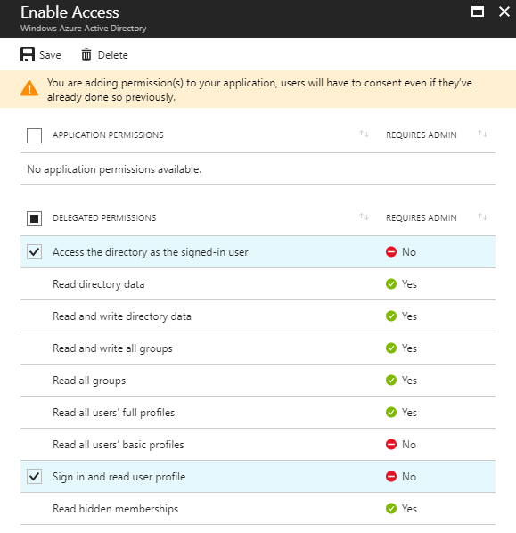 XTAM Windows Azure AD Enable Access