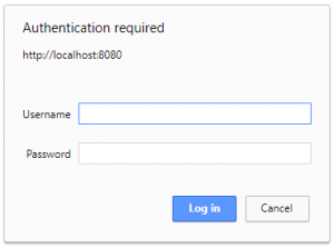 XTAM Non-federated simple Login Prompt