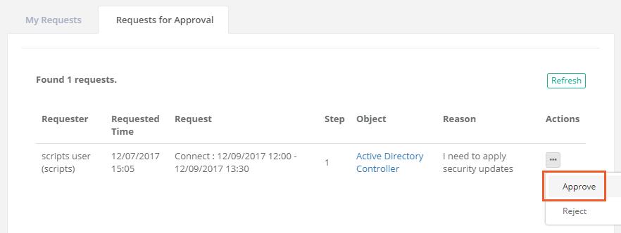 XTAM Workflow Approve