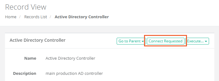 XTAM Record Connect Requested button
