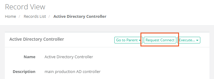 XTAM Record Request Connect button