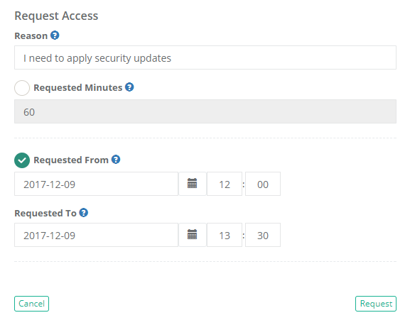 XTAM Request Access Form Completed