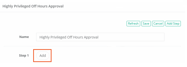 XTAM Approval Workflow Step 1 Add Approvers