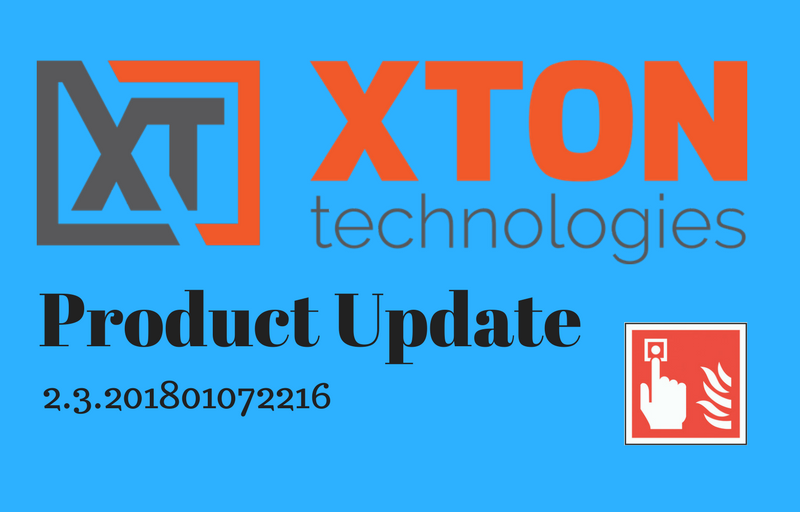 XtonTech Product Update 2.3.201801072216 - Break Glass Recovery