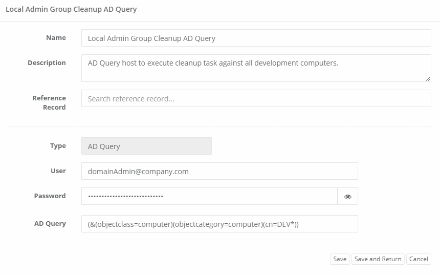 XTAM Host Query Record Saved