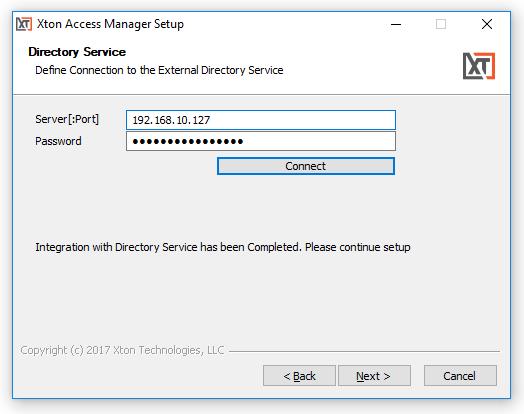 XTAM External Directory Service Installation