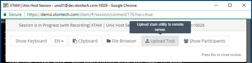 XTAM Session Copy Unix XTAM Upload Tool
