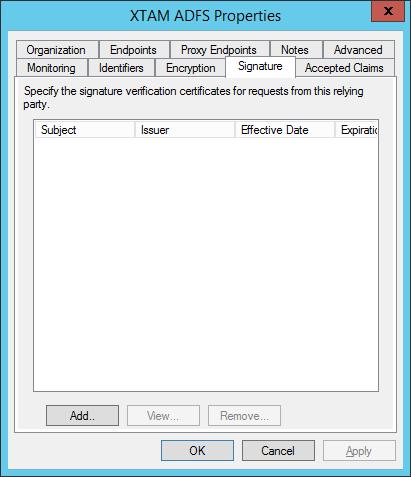 XTAM ADFS - Add Signature