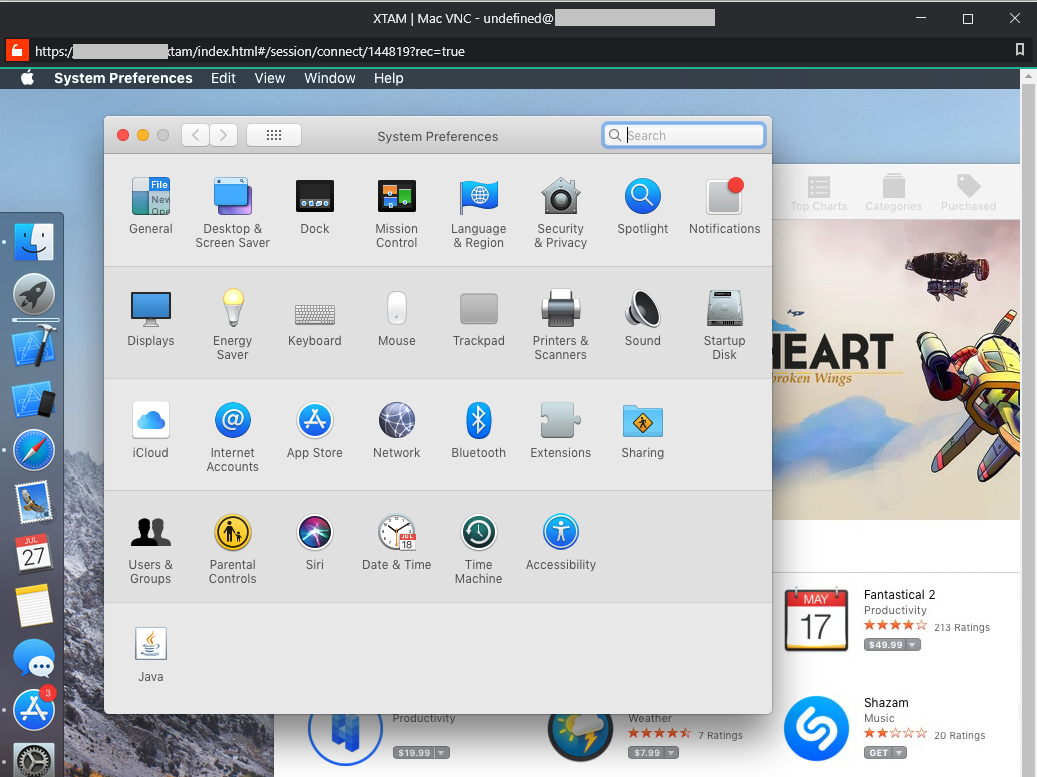 XTAM PAM for Apple (MAC) VNC Session