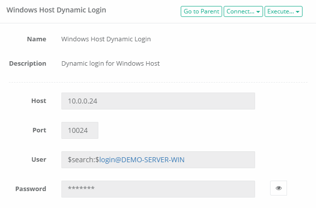 XTAM Dynamic Login Host Record