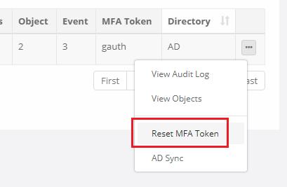 XTAM Reset MFA Token