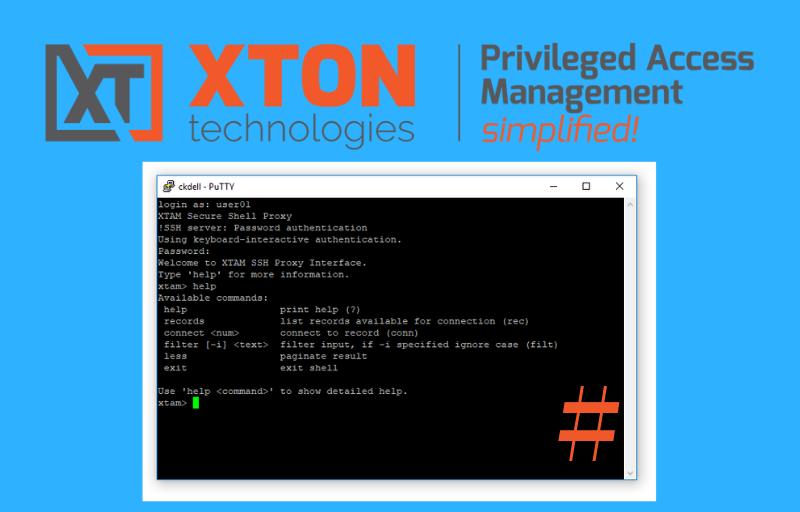 Xton Access Manager Product Update 2.3.201812302233 ssh proxy record ID disable file transfer disable vault scoped shadow