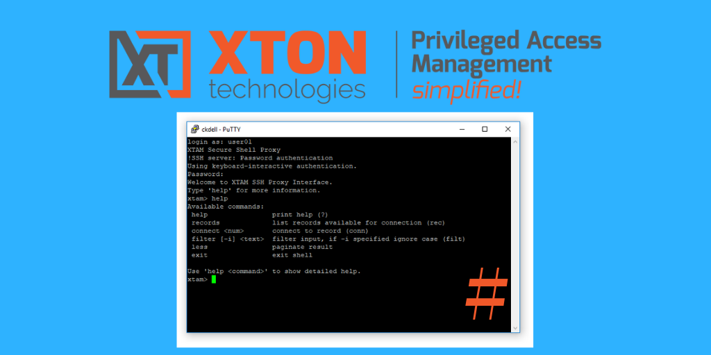 XTAM Update: Adds connect by record IDs option to SSH Proxy