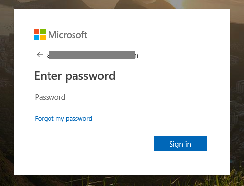 XTAM Azure SSO SAML Integration - Microsoft Online Password Prompt