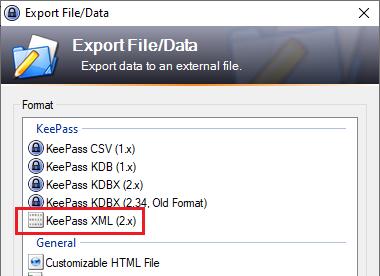 Import KeePass to XTAM Identity Vault
