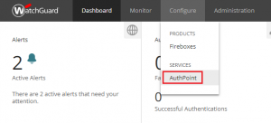 XTAM AuthPoint - Configure AuthPoint Option