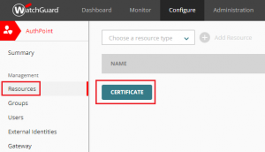 XTAM AuthPoint - Generate AuthPoint Certificate