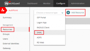 XTAM AuthPoint - Add New SAML Resource