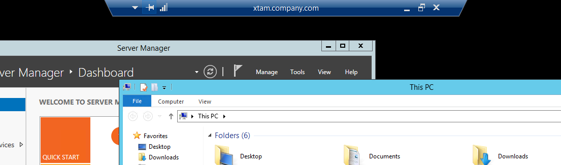 XTAM RDP Proxy - Connected
