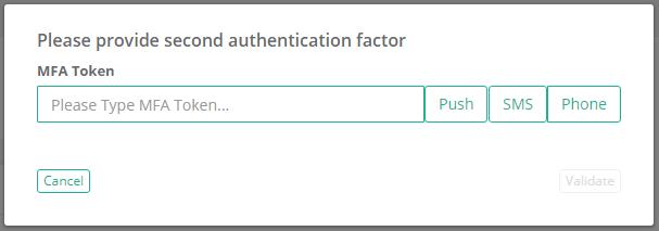 XTAM Workflow DUO Security MFA Prompt